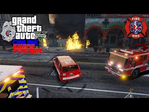 LIVE: GTA 5 LSPDFR Kuffs FiveM/vRP Police Roleplay (Fire