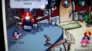 how to play the air drums in clubpenguin