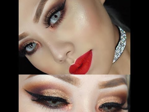 Holiday glam makeup tutorial Ft ABH SUBCULTURE DUPEBad Habit Retro love palette