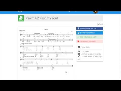 Cloud Hymnal's Psalm 62