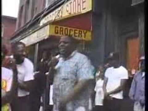 The Notorious B.I.G freestyling on a Brooklyn Street Corner, 1990
