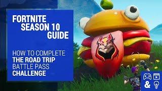 Fortnite Season 10 Road Trip Challenge Guide - Durr Burger, Dinosaur & Stone Head Statue Locations