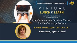 SCS Lunch & Learn: Lymphedema & Physical Therapy for Oncology Patients