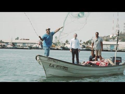 Pescadores de la Isla de la Piedra, Mazatlán, Sinaloa.
