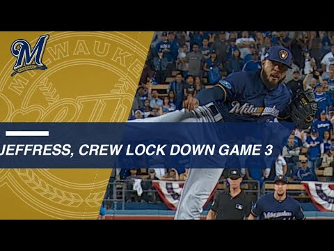 Jeffress, Brewers hang on to win Game 3 of the NLCS