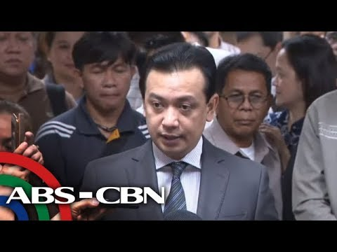 [ABS-CBN]  LIVE: Trillanes talks to reporters after court orders his arrest | 25 September 2018