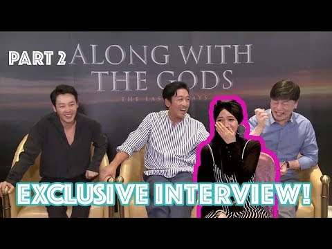 TERTAWA TERBAHAK-BAHAK KARENA HA JUNG WOO pas Interview Casts Along With The Gods: The Last 49 Days