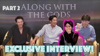 TERTAWA TERBAHAK-BAHAK KARENA HA JUNG WOO pas Interview Casts Along With The Gods: The Last 49 Days