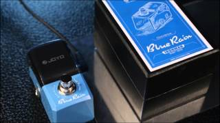 JOYO JF-311 Blue Rain Overdrive Mini Electric Guitar Effect Pedal with Knob Guard True Bypass