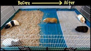 Guinea Pig Cage Makeover - Fleece Bedding Is Back!