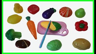 Sophia Learn Names Fruits and Vegetable Velcro Cutting Toys