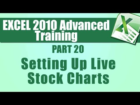 Microsoft Excel 2010 Advanced Training - Part 20 - Setting Up Live ...