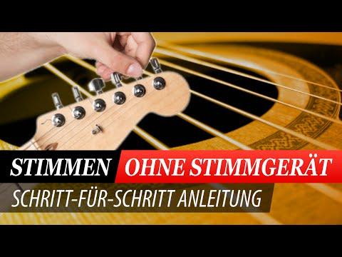 Tipp ! Gitarre stimmen OHNE Stimmgerät - Sehr beliebt!