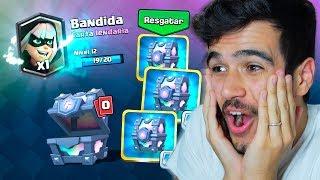 INCRÍVEL!! ABRI 3 BAÚS LENDÁRIOS E DEI MUITA SORTE NO CLASH ROYALE!!