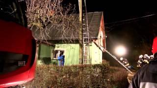 Pożar drewnianego domu w Kopytowej