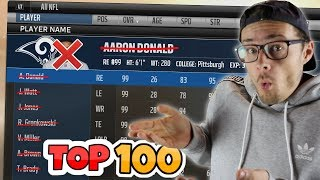 WHAT WOULD HAPPEN IF EVERY TOP 100 PLAYER VANISHED FROM THE NFL?? Madden 18