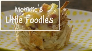 Momma's Little Foodies:  Bacon, Egg & Cheese Hash Brown Cups