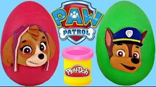 Paw Patrol Play-Doh Egg  Surprise with Skye and Chase with Toys Unlimited