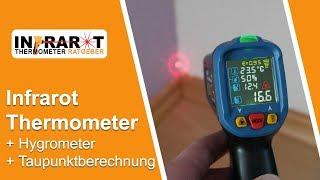 Luftfeuchtigkeit und Taupunktmessung mit Infrarot Thermometer | THZY PM6530D