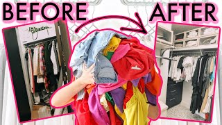 My BEST Tips For SMALL Closet Organization *MUST WATCH*