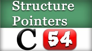Structure Pointers in C Programming Language Video Tutorial