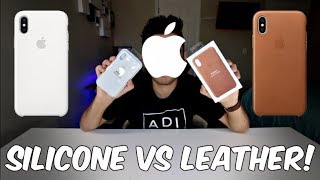 Apple iPhone X Leather Case Vs. Silicone Case