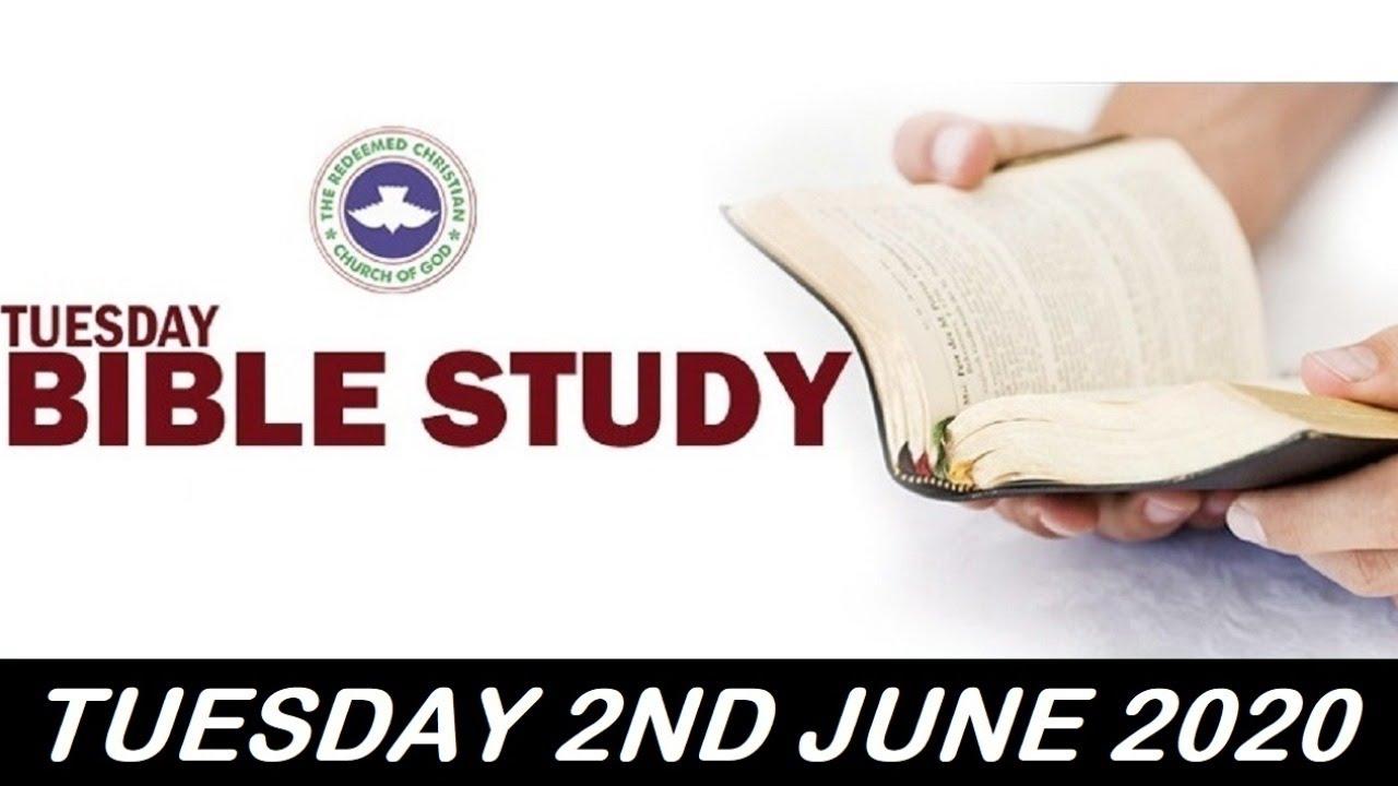 RCCG June 2nd 2020 Bible Study