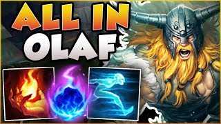 HIT ONE AXE IN LANE = 100% KILL GUARANTEED?? ALL IN OLAF SEASON 8 TOP GAMEPLAY! - League of Legends