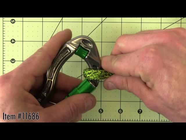 Видео Карабин DMM Revolver Locksafe титаново-зеленый