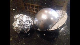 Polished Aluminium Foil Ball ( Cut in half ) - Video Youtube