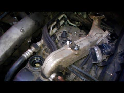 Фото к видео: замена прокладки масляного теплообменника на om648 Mercedes w211 320cdi