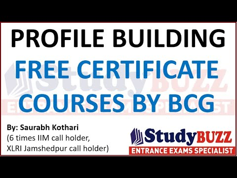 Profile building for MBA: Free online certificate course in ... - YouTube