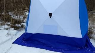 Палатка зимняя куб long 3-местная 3-слойная