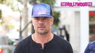 Josh Duhamel Reacts To Coronavirus Concerns While Leaving Lunch At Sharkys In Beverly Hills