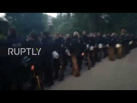 Germany: Police crackdown on G20 protest camp in Hamburg