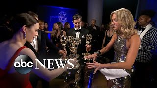 Backstage at the 2018 Emmy Awards