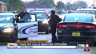 Fake 911 calls wasting officers time