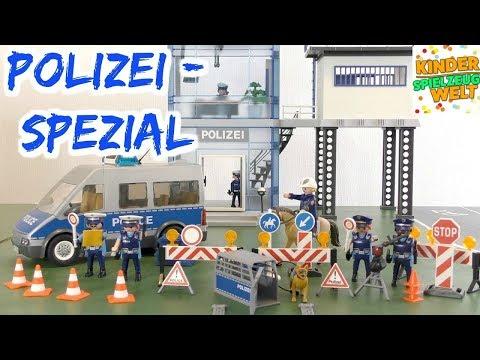 Playmobil Polizei Spezial - Neuer Polizeibus, Sperre und Pferd - City Action - Kinder Spielzeugwelt