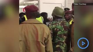 Drama galore as Miguna resists deportation - VIDEO