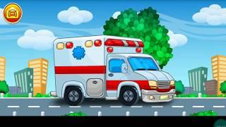 Мультики про машинки: учим цвета. Полицейская Машина Спасательная техника Мультфильмы для детей