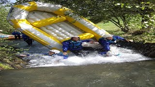 preview picture of video 'Rafting Argeles Gazost Pavillon des Sensations, fonte des neiges'