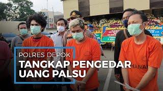Polisi Depok Ringkus Pengedar Uang Palsu, Total Rp41 Miliar Dalam Bentuk Mata Uang Asing