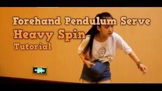 Table Tennis Tutorial: Forehand Pendulum Serve