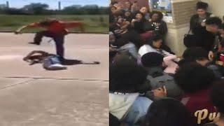 Violent school fights caught on camera