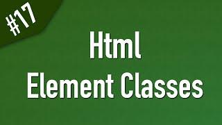html تمييز العناصر عن طريق ال Classes للتعامل معها