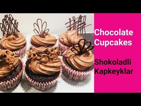 Chocolate Cupcakes   Shokoladli Kapkeyk   Ganaj va Krem I Капкейк. Ганаш. Шоколадный крем.