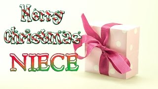 Merry Christmas Niece - Christmas Greetings Card eCard