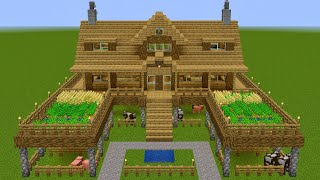 Minecraft - How to build a huge survival farm house