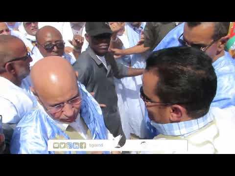 بالفيديو.. تدافع قوي للوزراء على غزواني في روصو