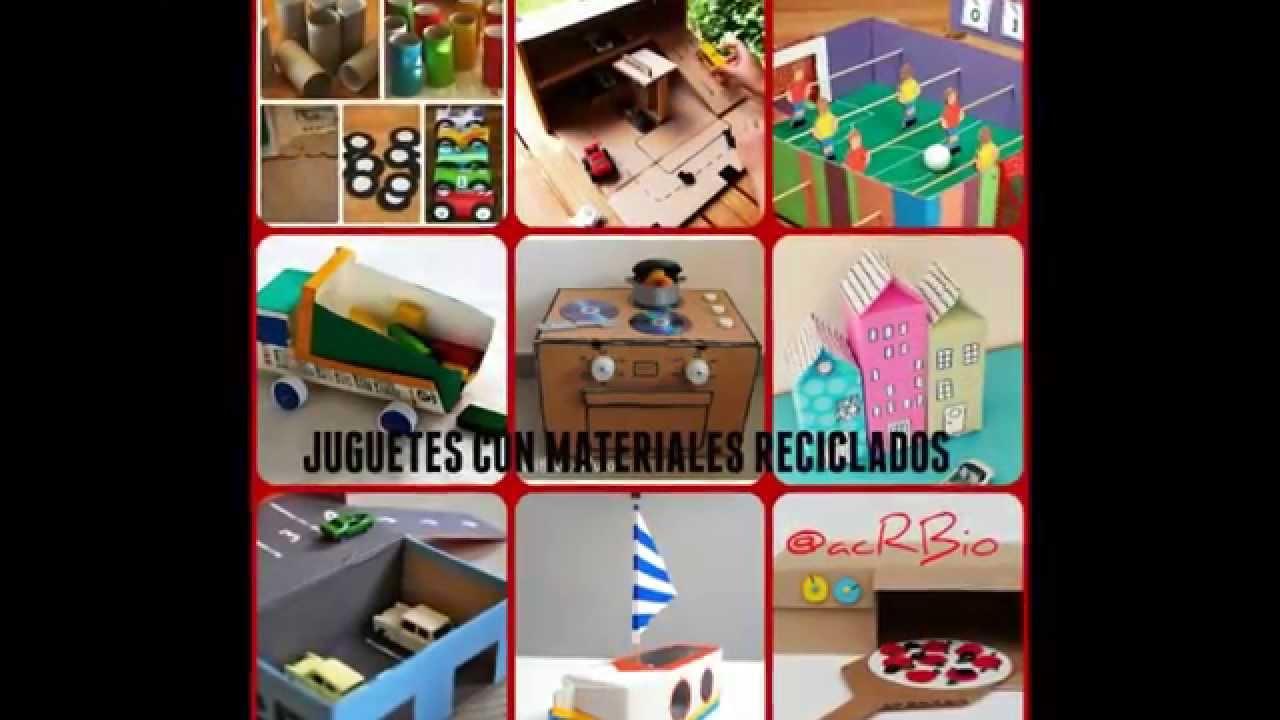 juguetes para niños con materiales reciclados